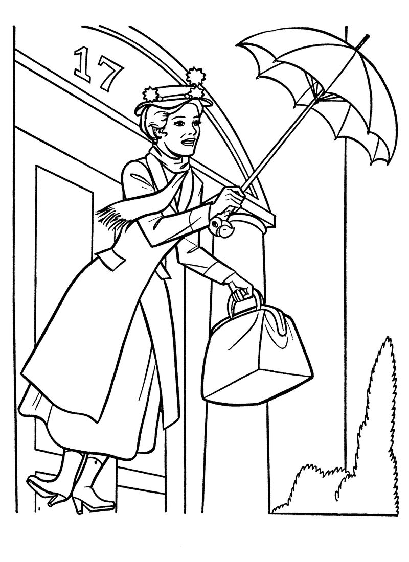 Mary Poppins Coloring Pages Activity
