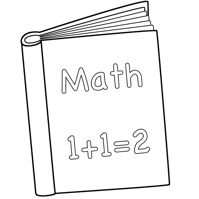 Math Book Coloring Page For Kindergarten