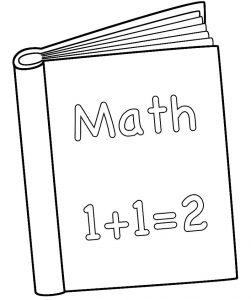 Math book coloring sheets