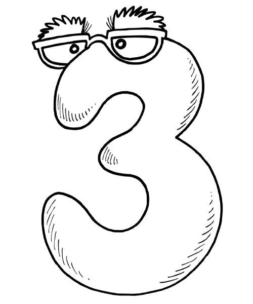 Math Coloring Pages The Number 3