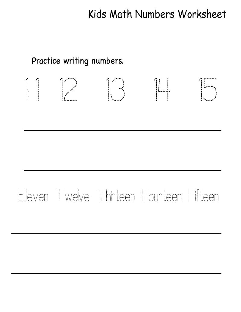 Math Numbers Worksheets Easy