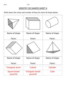 Math practice worksheets shape