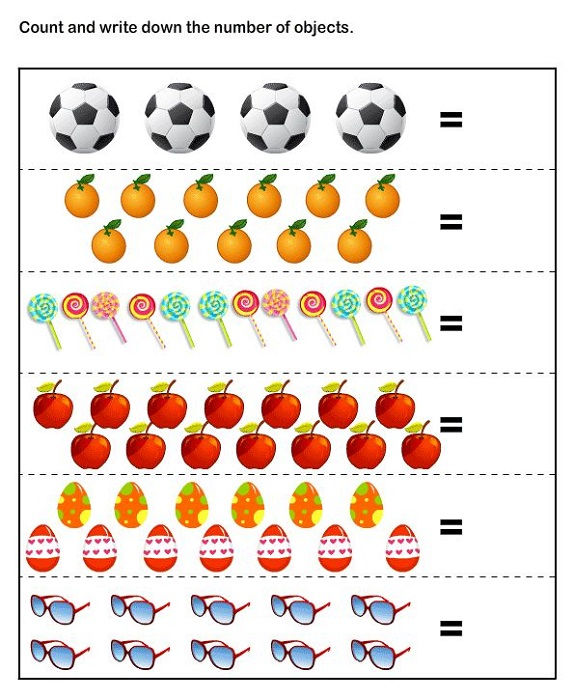 Math Sheets For Kids Counting