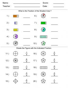 Math worksheets images fraction