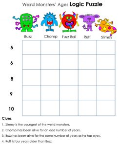 Maths puzzle for kids logic 001