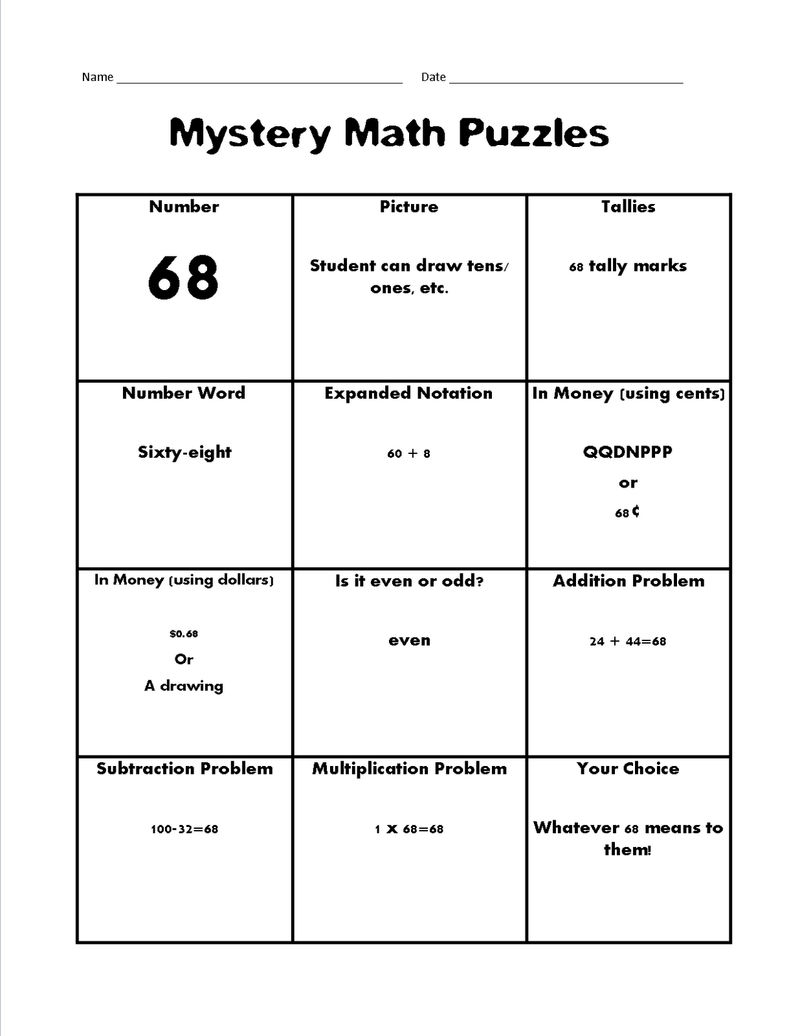 Maths Puzzle For Kids Mystery 001