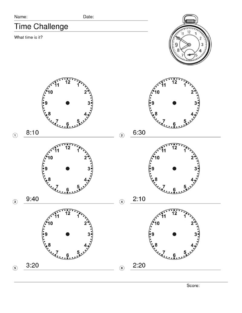 Maths Puzzles For Kids Time Clock