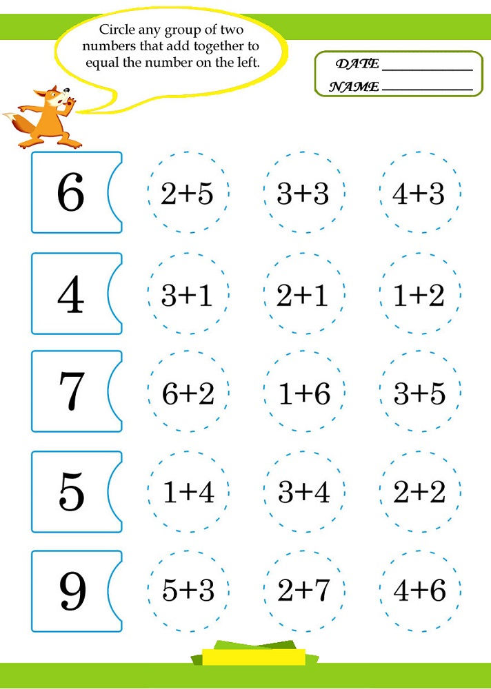 Maths Sums For Kids Easy
