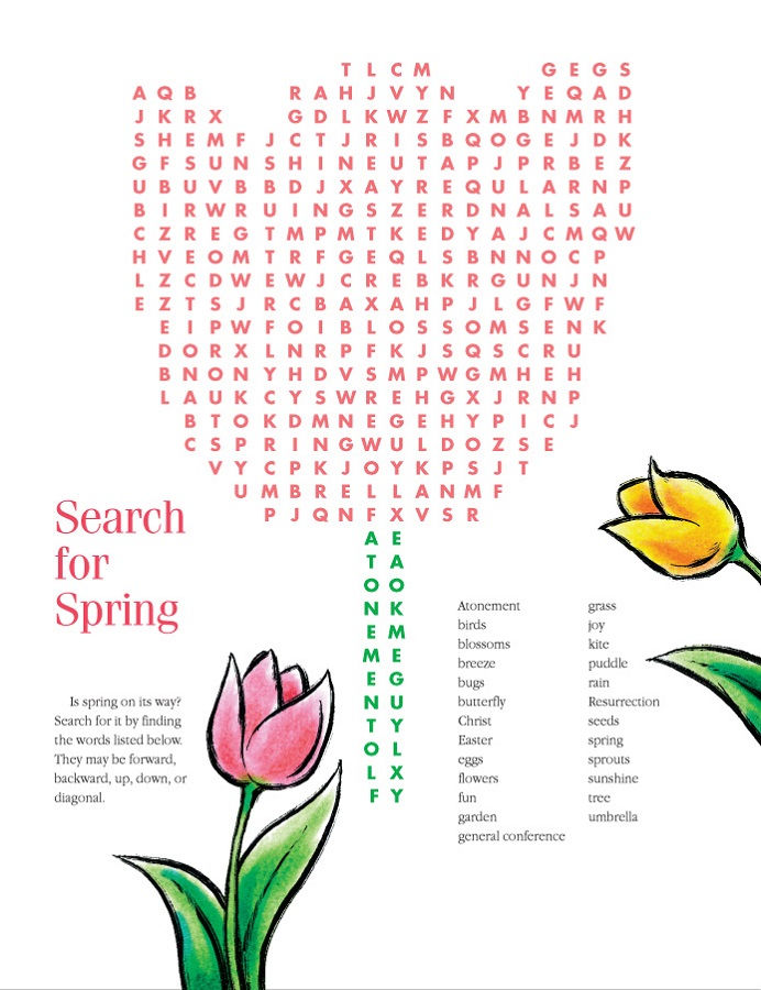 May Word Search Spring