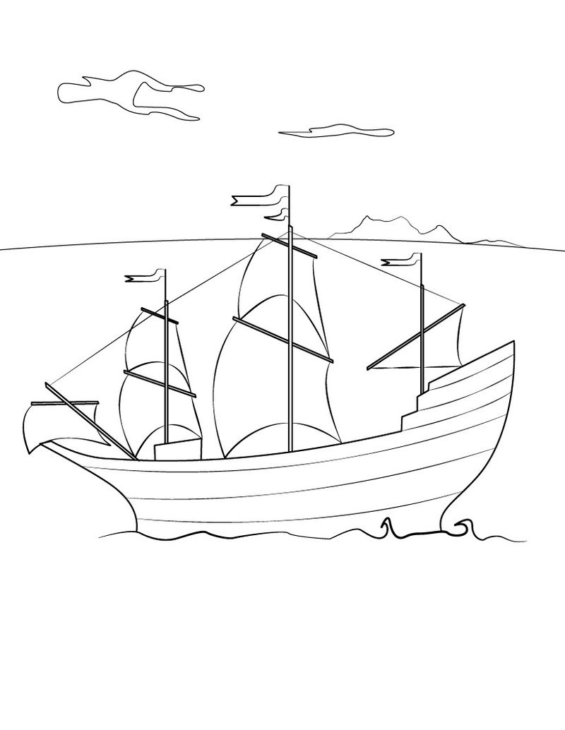 Mayflower Coloring Pages Printable