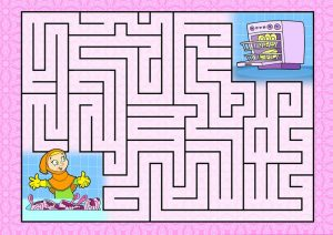 Maze for kids pink