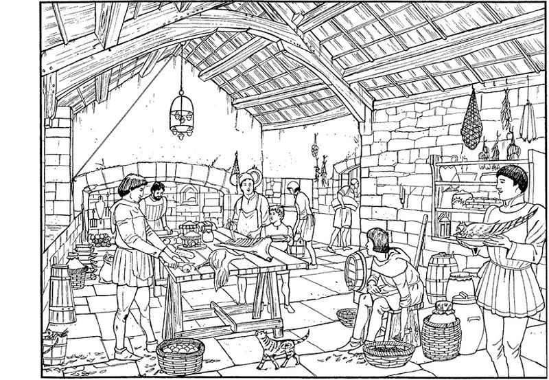 Medieval Activities For Kids Coloring