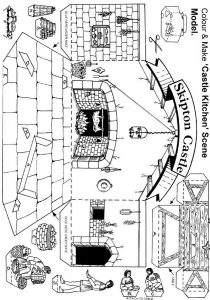 Medieval times activities drawing
