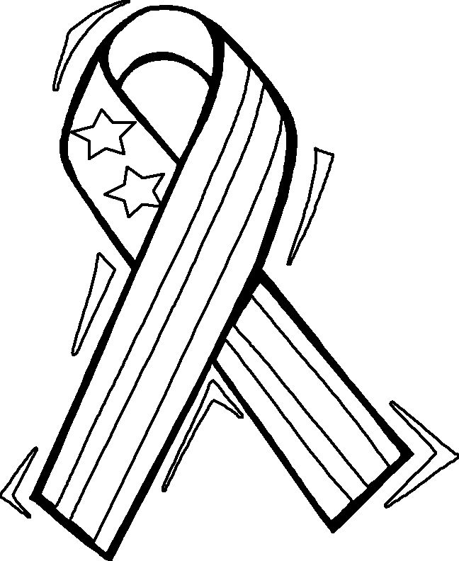 Memorial Day Coloring Page 1