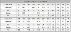 Mens shoe size chart 1 002