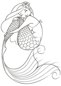 Mermaid coloring pages for teens