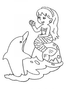 Mermaids coloring pages1