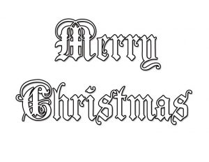 Merry christmas coloring page 1