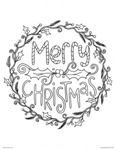 Merry christmas coloring page printables 1