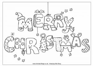 Merry christmas coloring pages 1 1