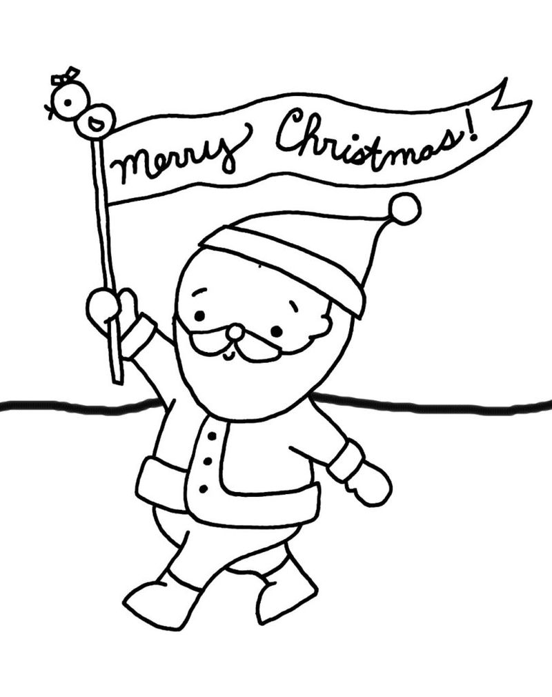 Merry Christmas Coloring Pages Banner
