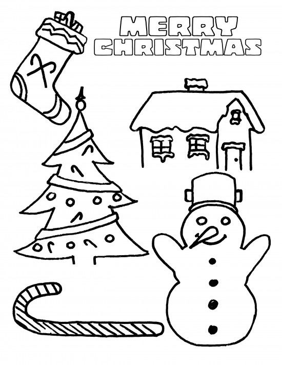 Merry Christmas Coloring Pages Download