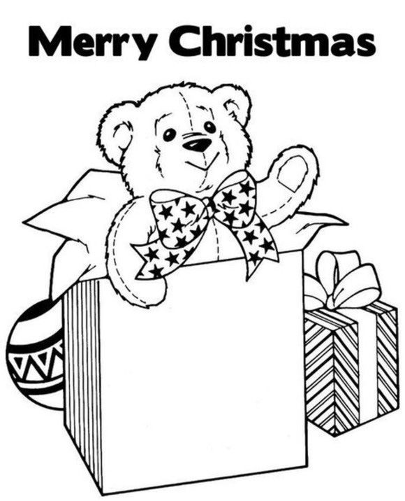 Merry Christmas Coloring Pages Gifts