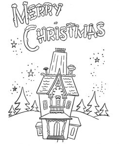 Merry christmas coloring pages home