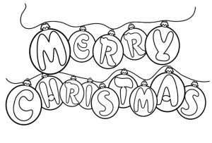 Merry christmas coloring pages ornaments