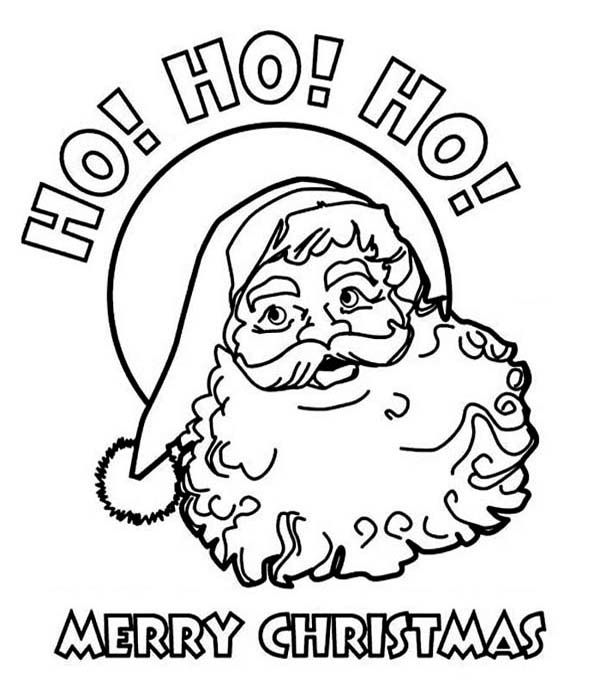 Merry Christmas Coloring Pages Santa