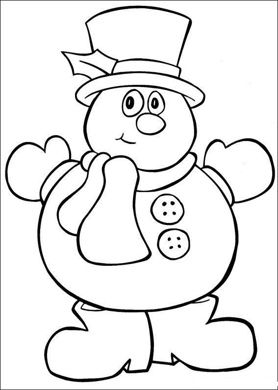 Merry Christmas Coloring Pages Snowman