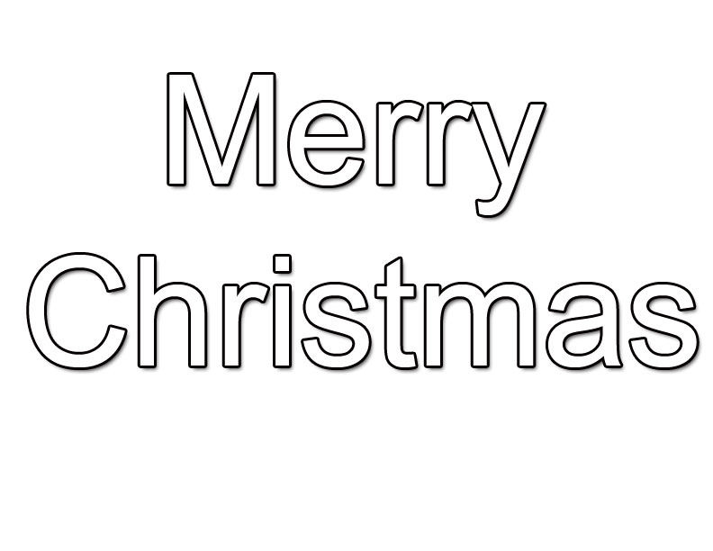 Merry Christmas Coloring Pages That Say