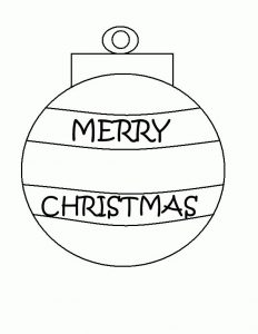 Merry christmas ornament coloring pages
