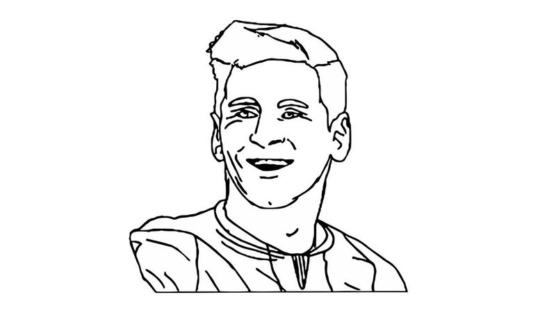 Messi Coloring Pages Face
