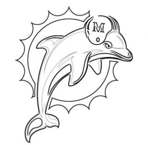 Miami dolphins from nfl coloring sheet printable
