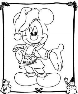Mickey mouse christmas coloring pages 001