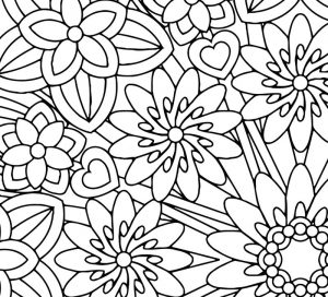 Mindfulness coloring pages flowers