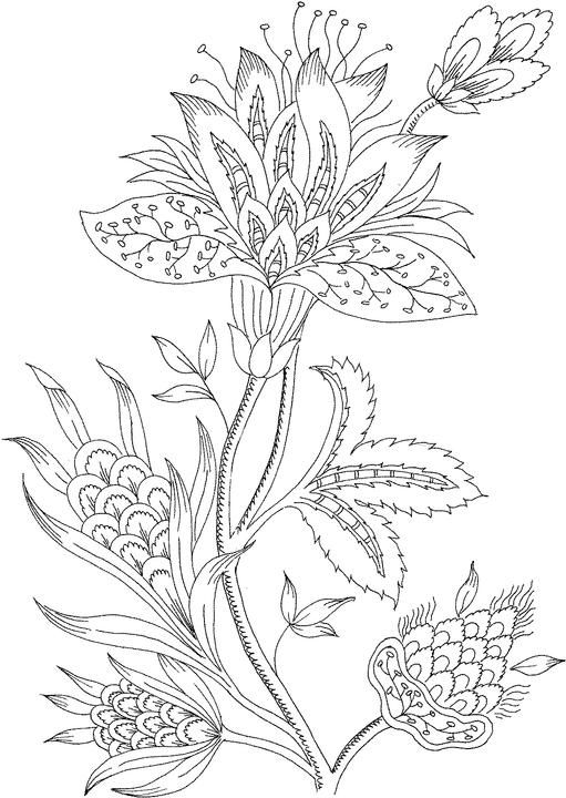 Mindfulness Coloring Pages Flowers 1