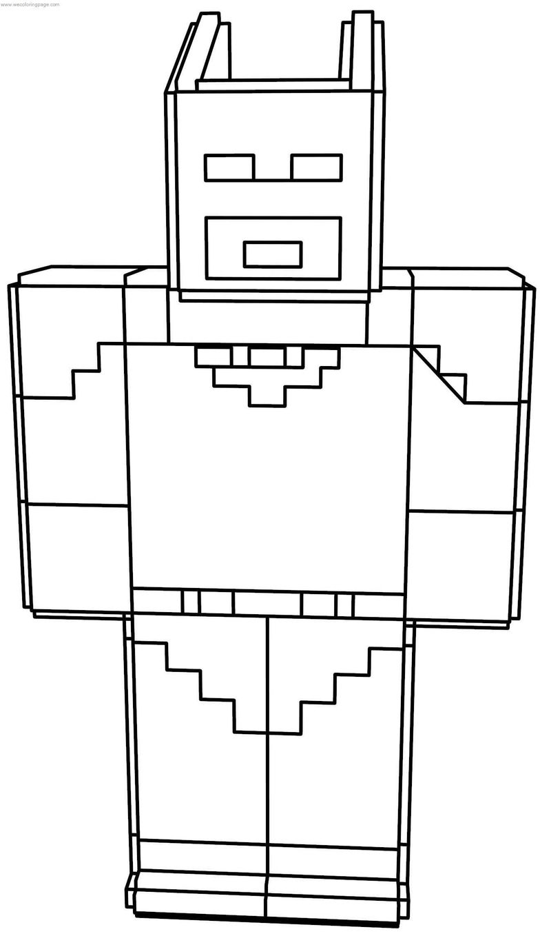 Minecraft Batman Lego Coloring Page