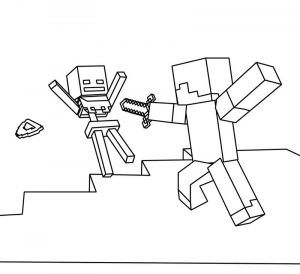 Minecraft printable coloring pages kids