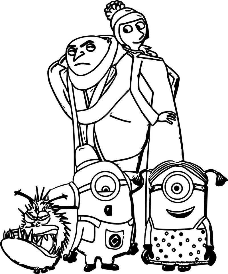 Minion Cartoon Caricatures Ws Coloring Page