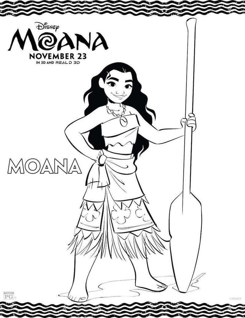 Moana Coloring Page Printable