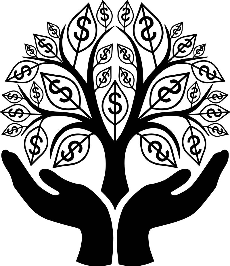 Money Tree Coloring Page