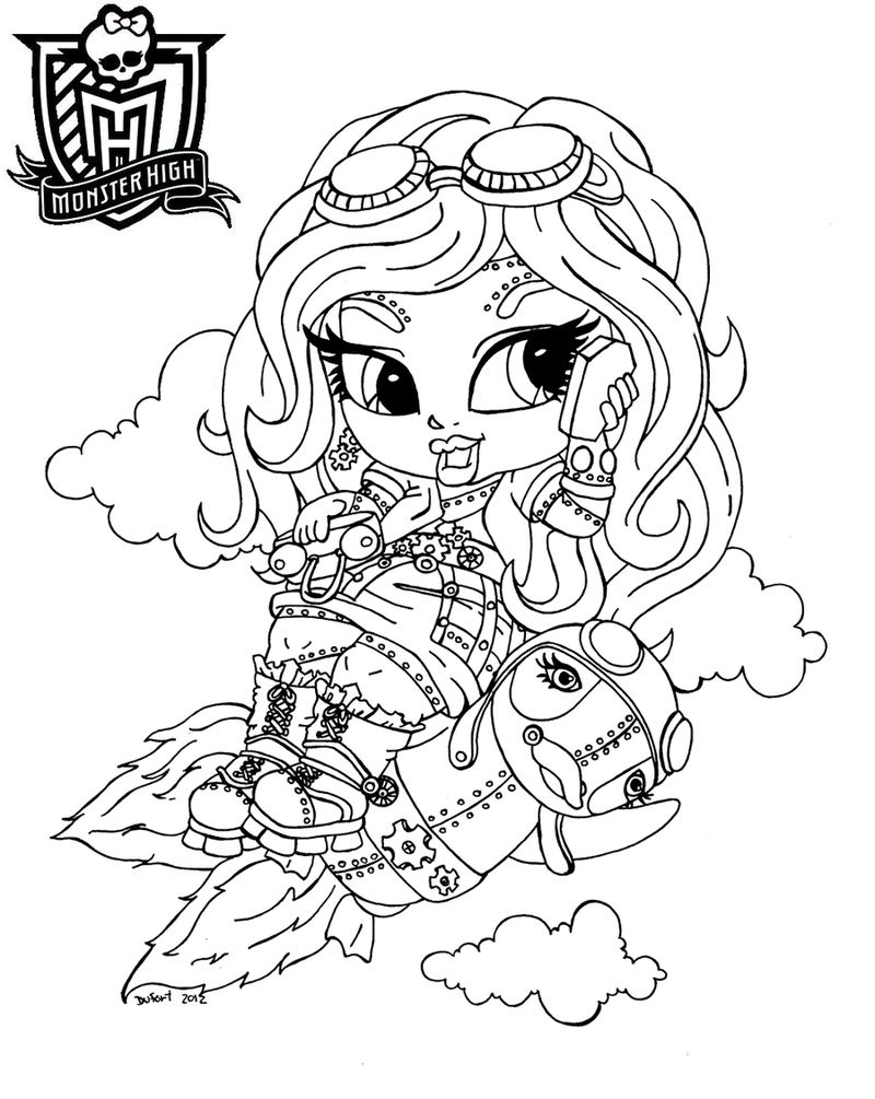 Monster High Baby Coloring Pages Photos