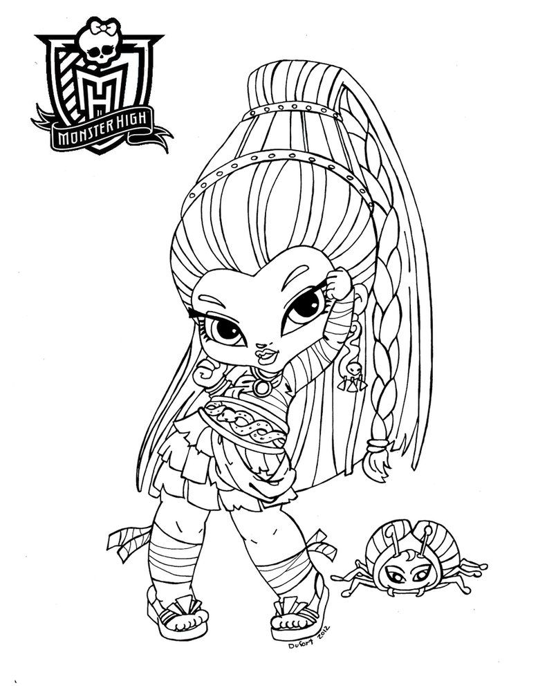 Monster High Baby Coloring Pages