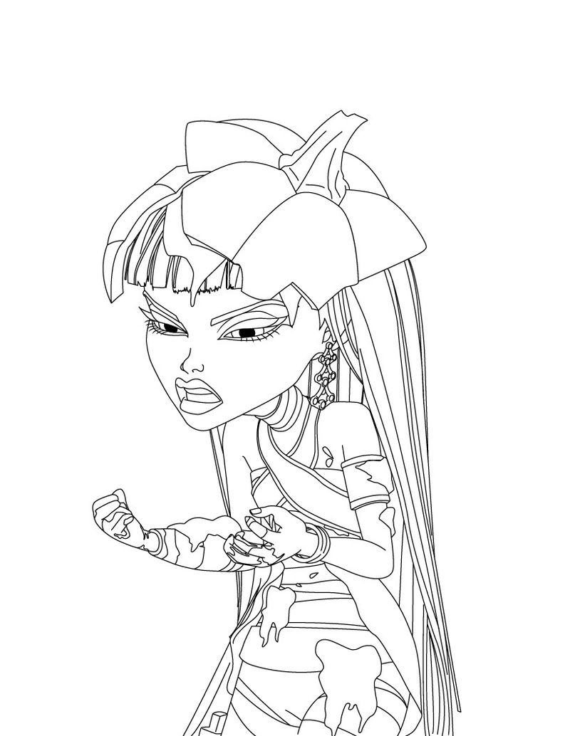 Monster High Coloring Page Photos