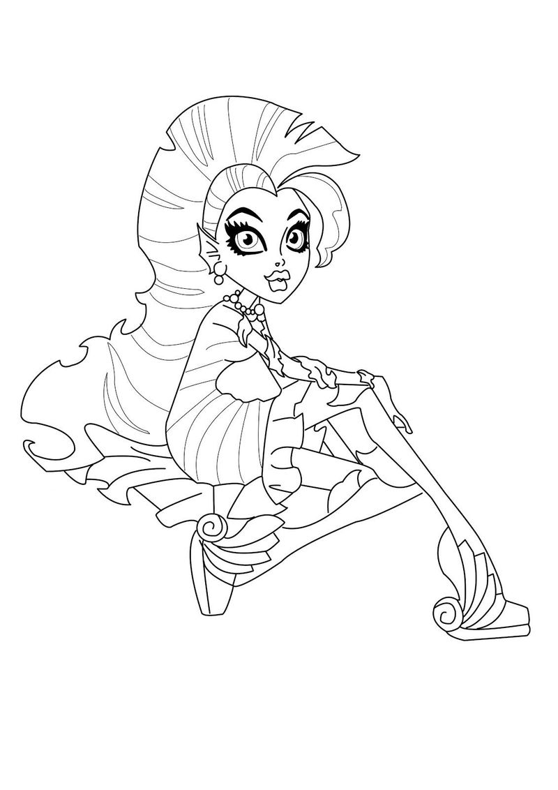 Monster High Coloring Pages To Print For Free Pictures