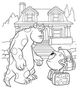 Monster inc coloring sheet james and mike coloring page