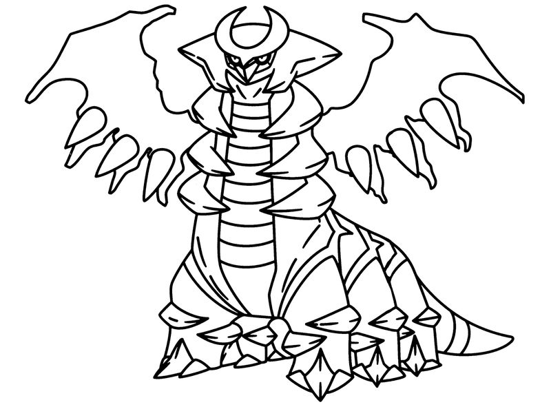 Monster Pokemon Coloring Page