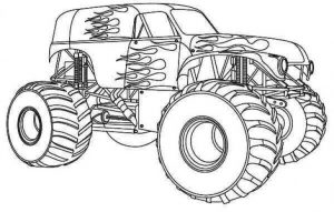 Monster truck car coloring pages